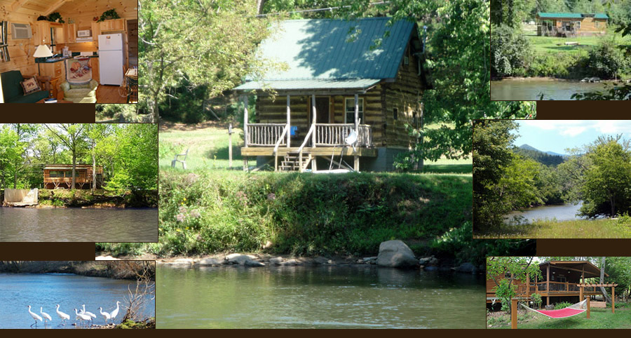 Franklin nc riverfront vacation log cabins for Smoky mountain nc cabin rentals